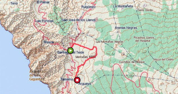 itinerario ruta almendro en flor tenerife